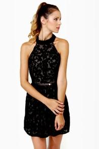 Velvet-iculture Black Halter Dress at Lulus.com!