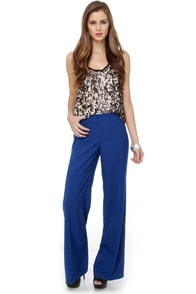Cool Atmosphere Royal Blue Pants