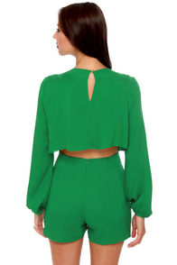 Have a Look-See Green Romper at Lulus.com!