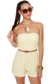 Lace Cadet Cream Lace Romper