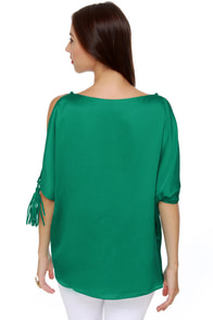 Fan-Tassle Teal Top at Lulus.com!