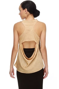 Goldplay Gold Sequin Top