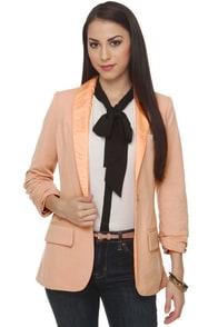 Lapel\'s Show Blush Pink Blazer