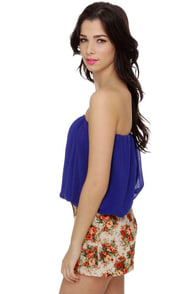 Tube-ilee Strapless Blue Top at Lulus.com!