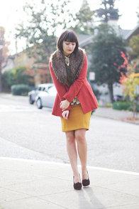 Very Vermont Golden Yellow Pencil Skirt