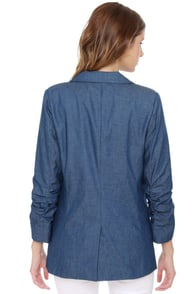 Christie Brinkley Blue Denim Blazer at Lulus.com!