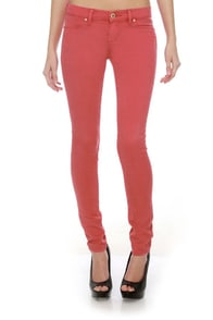 Blank NYC Spray On Salmon Pink Jeggings