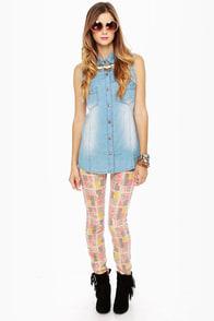 Blank NYC Love & Theft Print Skinny Jeans