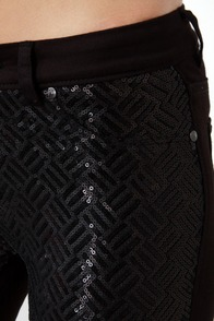 Blank NYC Spray On Black Sequin Jeggings at Lulus.com!