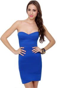 BB Dakota Jemma Blue Bandage Dress