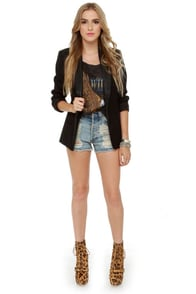 BB Dakota Zane Black Blazer at Lulus.com!