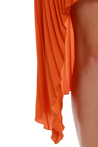 BB Dakota June High-Low Orange Dress