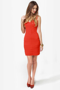 BB Dakota Hudson Orange Dress at Lulus.com!