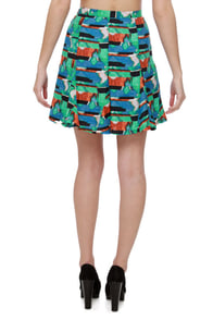 BB Dakota by Jack Medici Print Skirt at Lulus.com!