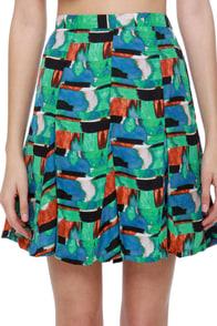 BB Dakota by Jack Medici Print Skirt at Lulus.com!
