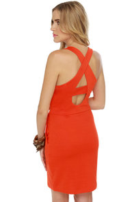 BB Dakota by Jack Penelope Orange Dress at Lulus.com!