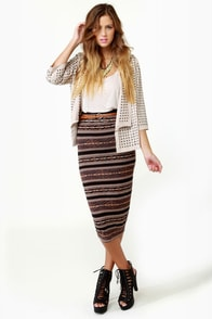 BB Dakota by Jack Joel Print Pencil Skirt at Lulus.com!