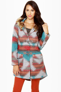 BB Dakota Koa Southwest Print Coat at Lulus.com!