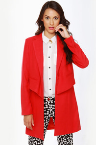 BB Dakota Rynn Coral Red Coat