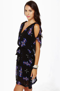 BB Dakota Celeste Black Print Dress