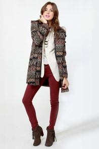 BB Dakota by Jack Marty Print Coat