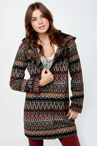 BB Dakota by Jack Marty Print Coat at Lulus.com!