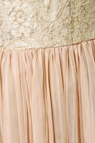 BB Dakota by Jack Javier Beige Lace Dress at Lulus.com!