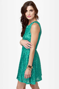 Seven Sea-quins Teal Sequin Dress at Lulus.com!