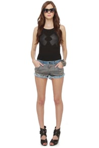 Billabong Lowah Beaded Jean Shorts