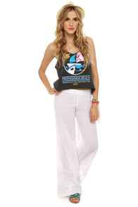Billabong Cosima Pull-On White Pants at Lulus.com!