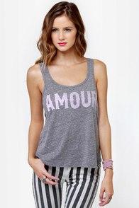 Billabong Amour Amour Grey Tank Top