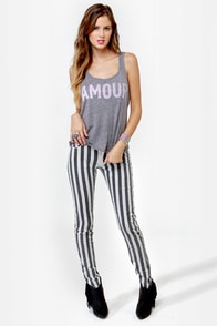 Billabong Amour Amour Grey Tank Top at Lulus.com!