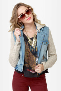 Billabong Rev Up Hooded Denim Jacket
