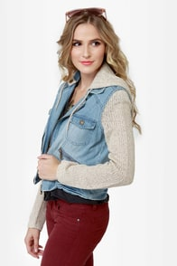 Billabong Rev Up Hooded Denim Jacket at Lulus.com!