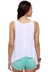 Billabong Field Tripper White Tank Top at Lulus.com!