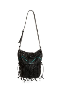 Billabong Carry Me Forever Black Fringe Purse