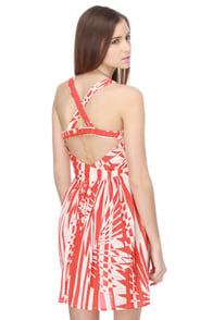 Billabong Rhythm Orange Print Dress