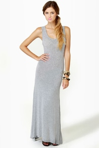 Weekend Wonder Grey Maxi Dress at Lulus.com!
