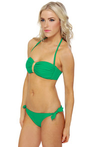 Money Honey Green Bandeau Bikini at Lulus.com!