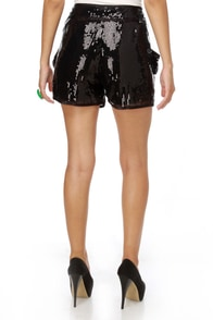 Tinseltown Sequin Black Shorts at Lulus.com!
