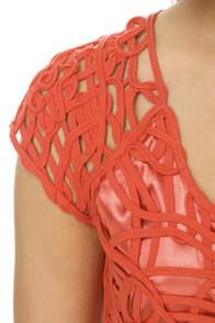 Macram� Maven Coral Dress