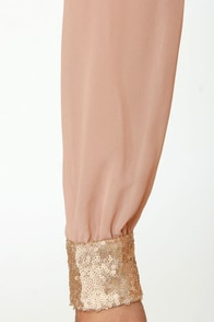 Stay the Quartz Blush Sequin Dress at Lulus.com!