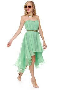 Blaque Label Aeriform Strapless Mint Green Dress