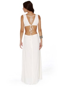 Blaque Label More or Backless Ivory Maxi Dress at Lulus.com!