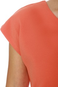Blaque Label West Side Glory Coral Orange Dress at Lulus.com!