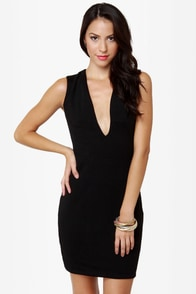 Blaque Label Rapid Descent Backless Black Dress