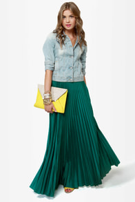 Blaque Label Mermaid\\\\\\\\\\\\\\\\\\\\\\\\\\\\\\\'s Path Teal Maxi Skirt