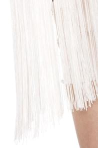 Blaque Label Cher�s Choice Ivory Fringe Top