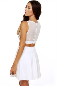 Girls' Night Out White Dress at Lulus.com!