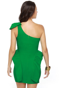 Marry the Night One Shoulder Green Dress at Lulus.com!